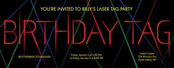 laser tag birthday invitations u2013 gangcraft net