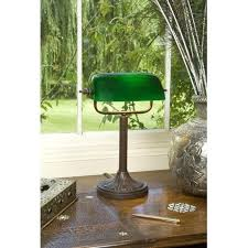 green glass shade bankers l desk antique desk l green glass shade bankers l traditional