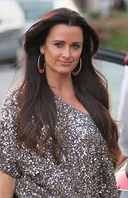 kyle richards hair extensions kyle richards sleek ponytail hairstyle fashion pinterest