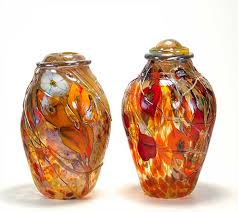 Decorative Glass Vases Art Glass Vases And Art Glass Cremation Urns By Tom Michael