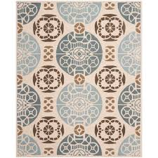 Sizes Of Area Rugs by Safavieh Carmel Beige Blue 8 Ft X 10 Ft Area Rug Car273a 8 The