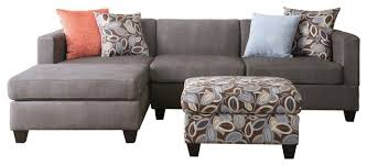 Riemann Sofa Microsuede 3 Piece Sofa Gray Transitional Sectional Sofas