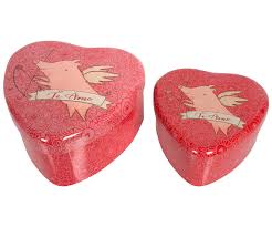 heart shaped items metal rabbit heart shaped tin 2 set maileg usa