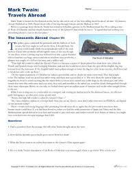 mark twain travels abroad context clues worksheet