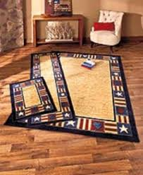 Primitive Country Area Rugs Americana Patriotic Rug Set Area Accent Runner Cabin Cottage