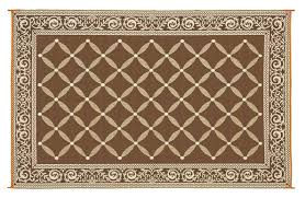5x8 Outdoor Patio Rug by Amazon Com Reversible Mats 116097 Brown Beige 6 U0027x9 U0027 Rv Patio Mat