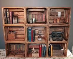 Reclaimed Wood Bookshelf Bookshelf Bookcase 9 Handmade Crates Reclaimed Wood Crates