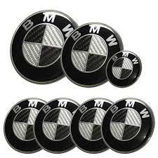 black and white bmw logo bmw carbon fiber emblem badge set 7pcs e46 e90 88gogoshop bmw