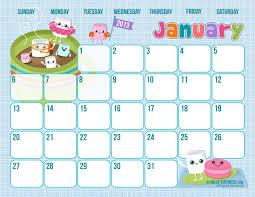 6 best images of free cute calendar printables 2014 2014