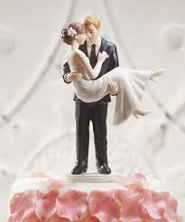 porcelain cake topper wedding cake topper swept up in his arms