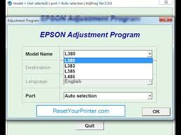 resetter epson l210 ziddu epson l380 reset epson l380 adjustment program youtube