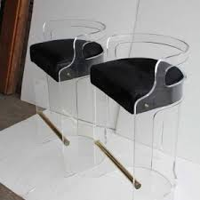 furniture transparent acrylic folding lucite bar stools with wood