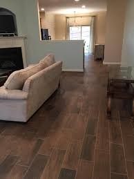 replace carpet with wood look tile