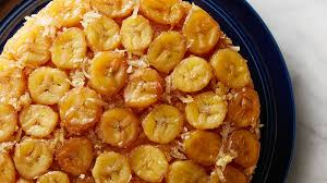 banana coconut upside down cake recipe tablespoon com