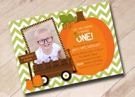 Halloween Themed 1st Birthday Party by Our Little Pumpkin First Birthday Invitation Fall Autumn