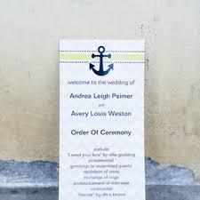 nautical wedding programs nautical wedding programs