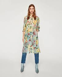 long floral print shirt embroidery prints tops woman