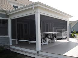 Exterior Shades For Patios Remote Controlled And Retractable Screen For Screened In Porch