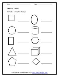 number names worksheets worksheets on shapes free printable