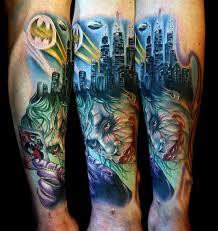 joker tattoo video amazing batman and joker tattoo pic global geek news