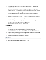 Resume Samples For Teaching by Resume Sample For Teachers