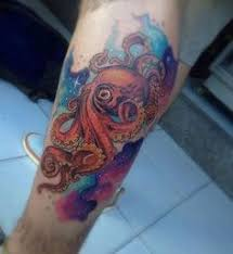 i want an ocean scene on my left leg with the colorful coral reef
