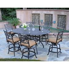 Patio Bar Furniture Set Upholstered Wrought Iron Armchair With Square Bar Height Dining