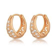creole earrings cubic zirconia hoop earrings for women jewelry wholesale bijoux