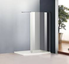 Curved Shower Bath Screen 1400x800mm Walk In Shower Enclosure Cubicle Curved Glass Screen