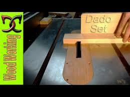 table saw dado blade insert dado blades and dado insert youtube
