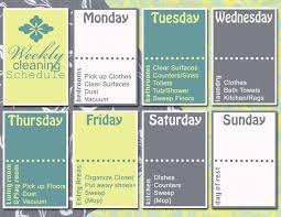 House Cleaning List Template Graphic Monday Weekly Cleaning Schedule Discover Create Live