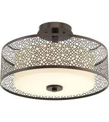 Semi Flush Ceiling Lights Progress P3565 20 Mingle 2 Light 16 Inch Antique Bronze Semi Flush