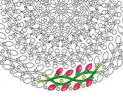 christmas mandala coloring ornaments printable
