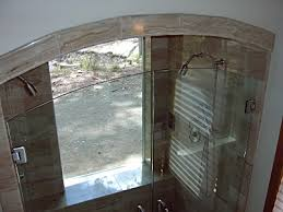 Arched Shower Door Mangham Glass Arched Shower Doors Top View