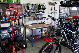 bike workshop ideas home bike repair shop is 1 year old and has probably already paid