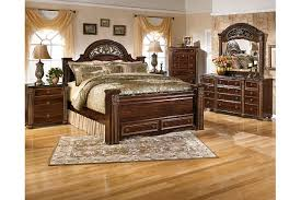 king poster bedroom set gabriela king poster bed with storage ashley furniture homestore