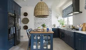 Neutral Colors For Kitchen - at home bold color on kitchen cabinets is a u0027thing u0027 the topeka