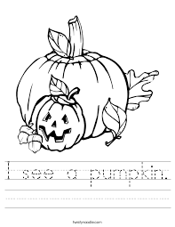 i see a pumpkin worksheet twisty noodle