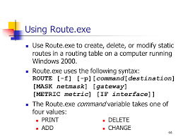 Windows Routing Table Chapter Overview Tcp Ip Overview Configuring Tcp Ip Clients Ppt