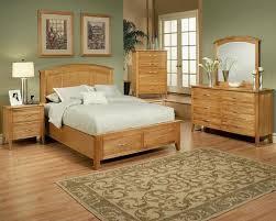 Oak Bed Set Bedroom Set In Light Oak Finish Firefly County By Ayca Ay 22 02set
