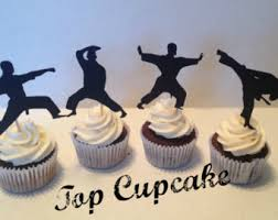 karate cake topper martial etsy