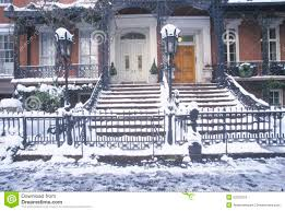 Historic Home Decor Christmas Decor On Historic Home Of Gramercy Park After Winter