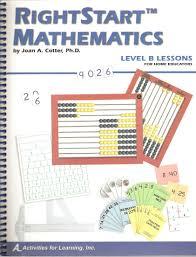 Rightstart Mathematics Level B For Home Educators Joan A Cotter