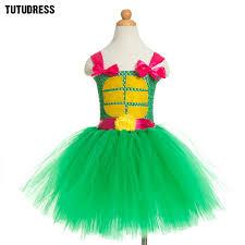 Green Tutu Halloween Costume Aliexpress Buy Cartoon Girls Dress Tulle Children Tutu