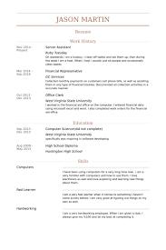 server assistant resume samples visualcv resume samples database