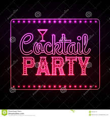 neon sign cocktail party stock vector image 46522779