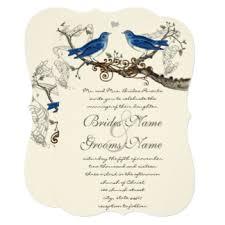 birds wedding invitations announcements zazzle