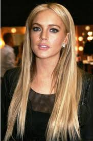 long straight hairstyles with side fringe