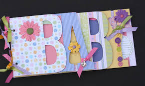 baby girl scrapbook album baby scrapbook album premade scrapbook word chipboard album