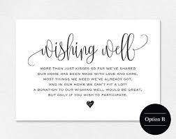 wedding well wishes wishing well card wedding wishing well by blisspaperboutique